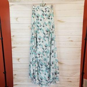 White house black market strapless hi- low dress